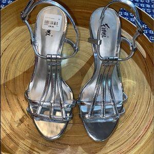 ‼️ Gorgeous Stylish Silver Heels Firm Price